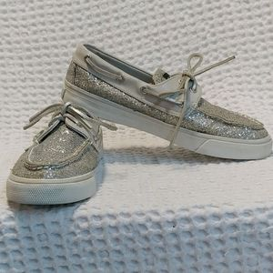 Sperry Shimmering Silver Topsiders